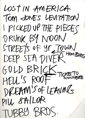 Ship and Pilot Setlist
